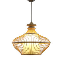 Bamboo LED Pendant Lamp Cord Wood e27 D80cm Pendant Light Hand Knitted For Mall Porch Parlor Study Hotel Hall Pendant Light G002(China)