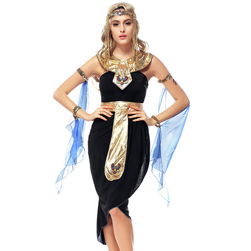 2017 new fashion egyptian costume sexy halloween arab goddess game uniforms latin clothing cosplay party dancing - Halloween Fashion Games