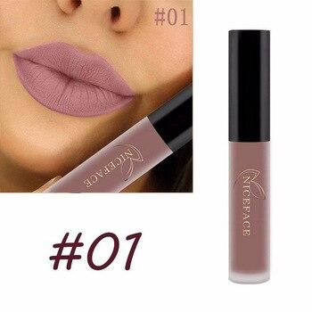 Matte Liquid Lipstick Waterproof Long Lasting Velvet Mate Nude Red Lip Gloss Lint Tube Makeup Cosmetics Lipsticks 2
