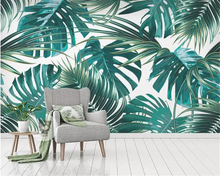 Beibehang Custom Mural Wallpaper Southeast Asia Tropical Rainforest Banana Leaf Photo Background Wall Murals Silk 3D