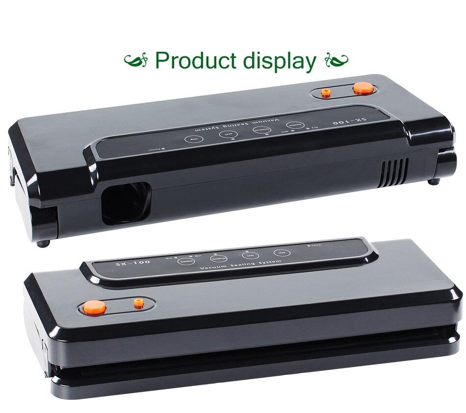Ménage Multi-fonctionnelle Vide Alimentaire Scellant Automatique Emballeuse Sous Vide Machine À Emballer Sous Vide avec 10 pcs de Sacs Food Saver