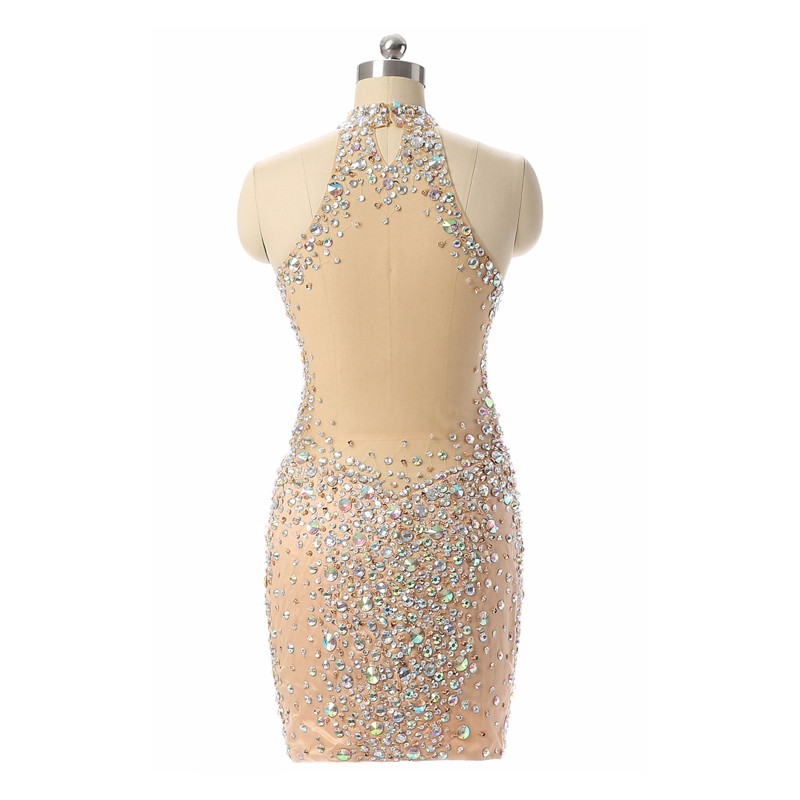 Luxury-Champagne-Short-Prom-Dresses-Mermaid-2017-Beading-Crystal-Imported-Party-Dress-Vestido-Formatura-Evening-Gowns (1)