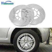 HUANLISUN 2pcs Car Universal 25cm Thicken Aluminum Disc Brake Rotor Racing Covers Drum Decorative