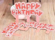 Birthday letter decoration 50pcs Cake Toppers Party Supplies Cupcake Tutu Table Decorations Kids childr