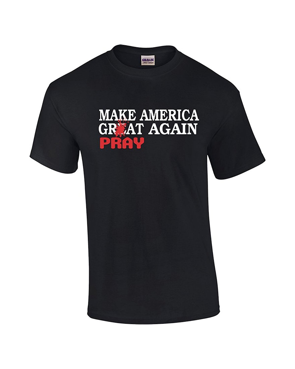 Black t shirt bulk - Cheap Graphic Tees Crew Neck Men Novelty Short Bulk T Shirts Make America Pray Again Crew