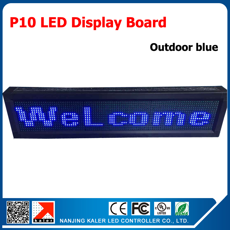 Blue USB Programmable Scrolling LED Signage Message Board Display LED Message Display Signs Open LED Sign Outdoor