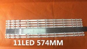 Image 1 - 2 개/몫 BANDE LED VESTEL 32 인치 REV0.2 TIS 4A 94V 0 1612 VES315WNDA 01 NUEVAS 11LED 574 MM