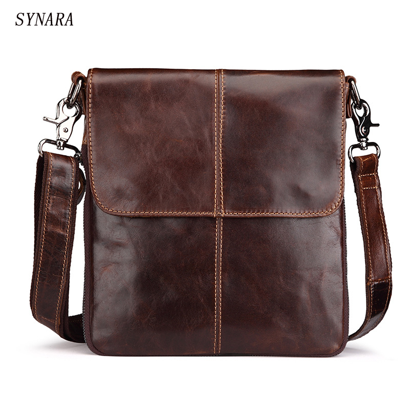 Handbags Cowhide Genuine Leather Men Bags Fashion Men Shoulder Crossbody Bags Ipaid Messenger Bag Man Leather Men's Travel Bag vintage fashion men big travel bags made by genuine leather men sports hiking messenger bags cowhide shoulder bags for men 2016