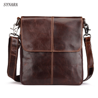 Handbags Cowhide Genuine Leather Men Bags Fashion Men Shoulder Crossbody Bags Ipaid Messenger Bag Man Leather