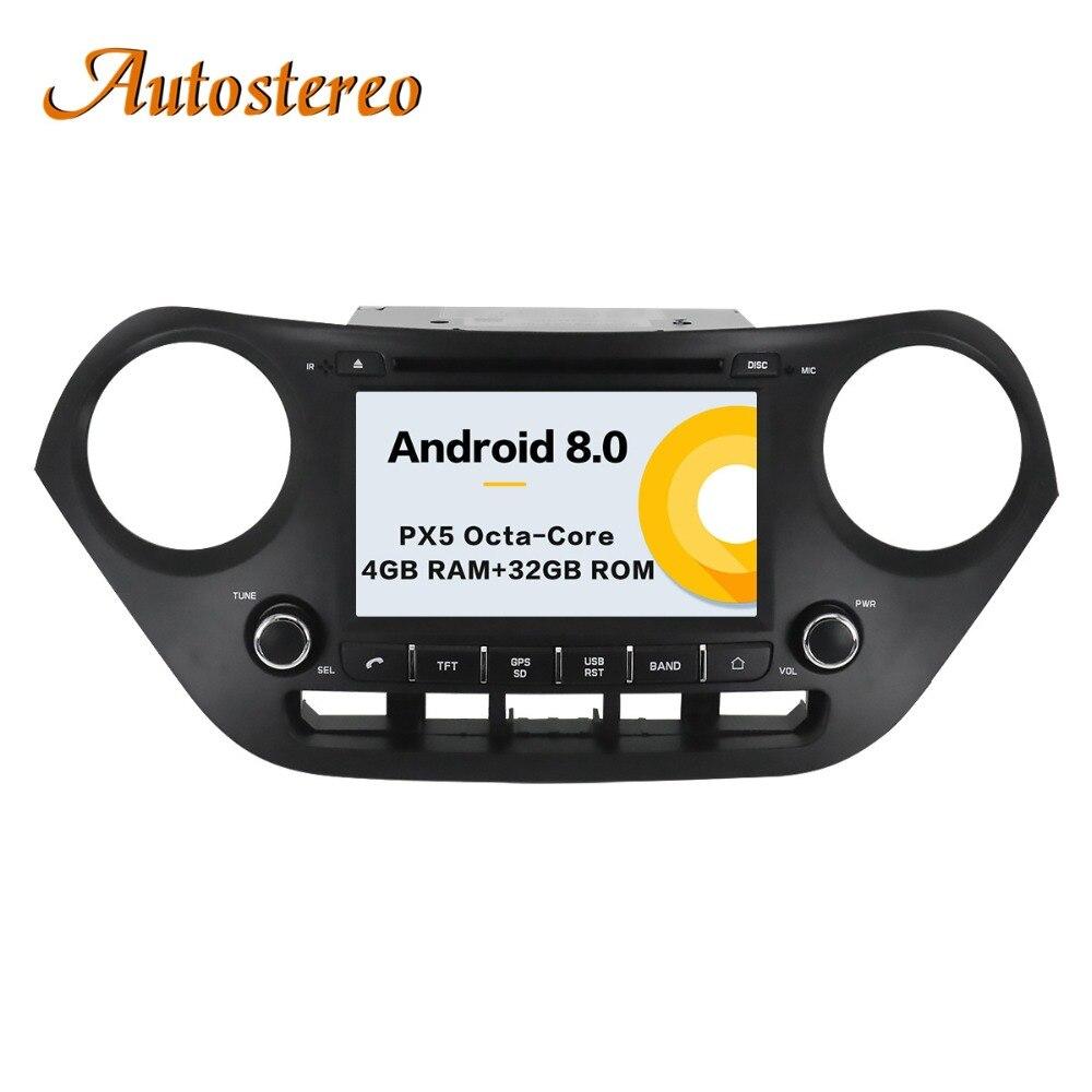 Le plus récent Android8.0 7.1 Lecteur DVD de Voiture pour Hyundai I10 I-10 2013 + GPS navigation multimédia satnav stéréo radio bande enregistreur