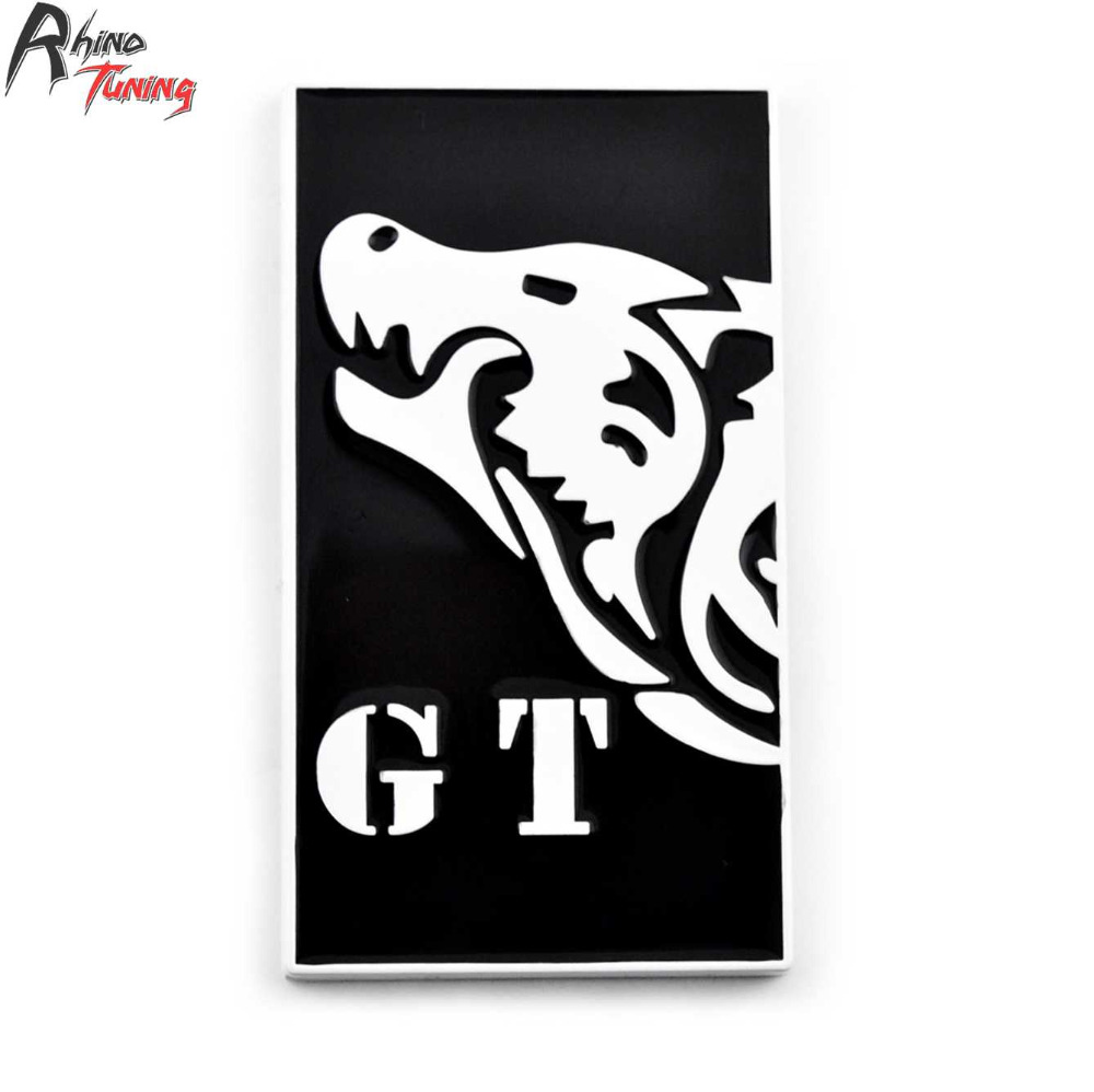 Rhino Tuning Wolf GT Car Styling Tailgate Emblem Coyote Metal Badge Auto Boot Trunk Sticker For Coyote Shelby GT350 807