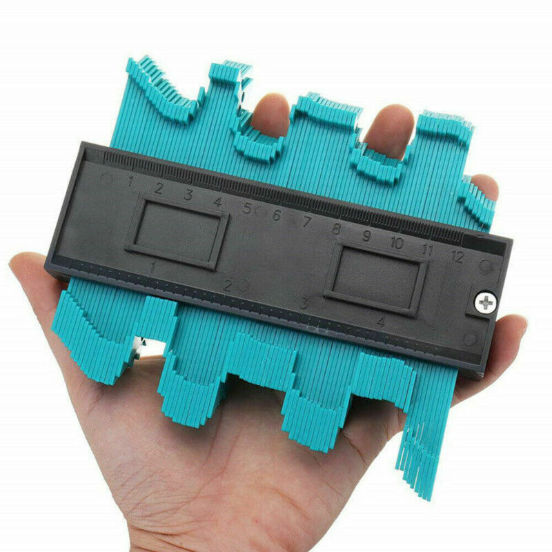 Plastic Gauge Contour Profile Copy Gauge Duplicator Standard 5 Width Wood Marking Tool Tiling Laminate Tiles General Tool 4Color
