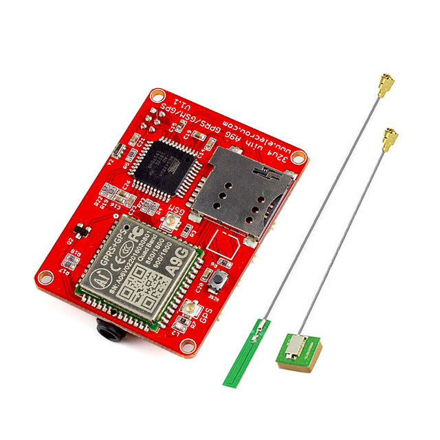 Elecrow 32u4 with A9G GPRS/ GSM/ GPS Module Quad band 3 Interfaces DIY Kit ATMEGA GPS Sensor Wireless IOT Integrated Modules