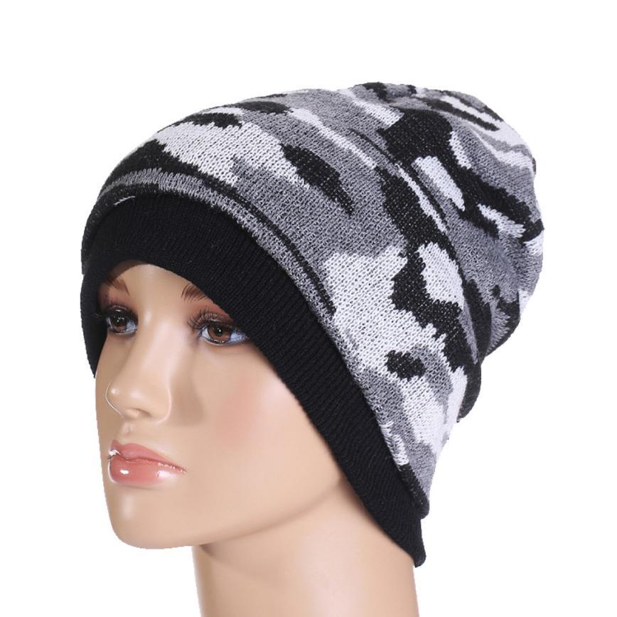MUQGEW 2017HOT Male Warm Knit Baggy Beanie Cap Oversize Hat Fashion Unisex Knitting Wool Cap Hat protetor de orelha inverno#WMEW