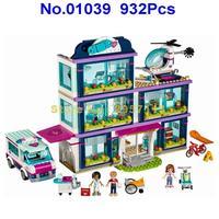 Lepin 01039 932pcs Heartlake City Park Love Hospital Girl Friends Building Block Brick Toy