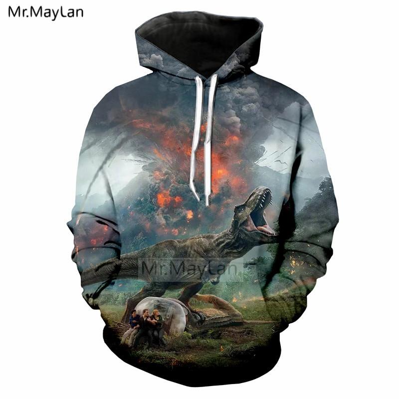 Latest Collection Of 2018 New Movie Jurassic World Fallen Kingdom Dinosaur 3d Print Jacket Men/women Streetwear Hoodies Sweatshirt Boy Autumn Clothes Discounts Price Men's Clothing