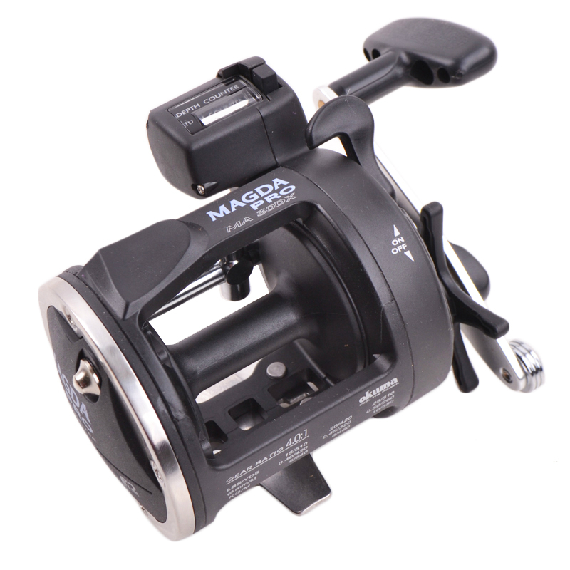 цена на Okuma MAGDA Ma-30dx fishing reel Boat fishing Reel with counter Bait casting Right hand reel Sea Fishing trackle