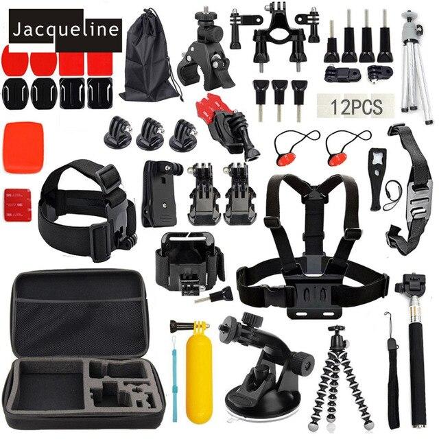 Jacqueline for Accessories Kit Set for Gopro HERO 6 5 Hero 3+ Hero 4 Session3 2 for SJCAM SJ5000 SJ6000 for Eken H9R H9