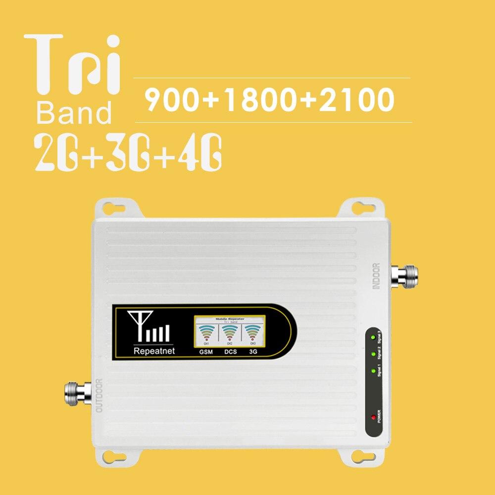 900 1800 2100 amplificateur de Signal de téléphone portable GSM LTE WCDMA Tri bande 70dB Gain affichage LCD répéteur de Signal GSM amplificateur 2G 3G 4G LTE