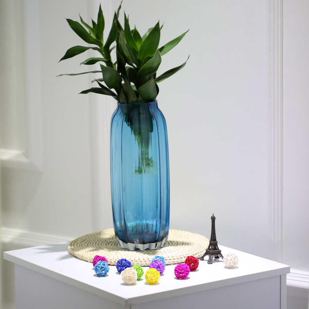 Glass vase modern ribbed design glass vase home room decoration glass vase modern ribbed design glass vase home room decoration floral arrangements straight shape flower vase in vases from home garden on aliexpress reviewsmspy