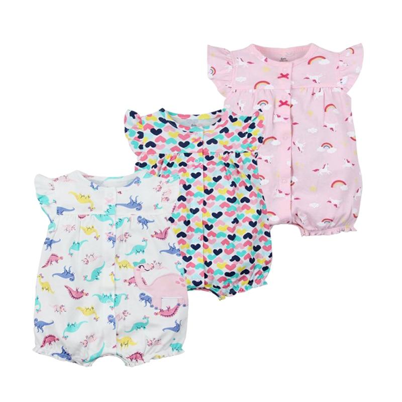 2019 marca oramgemom algodão curto macacão infantil roupas de menina roupas de menina bebê roupas de menina Nowbron jumpsuits da roupa do bebê