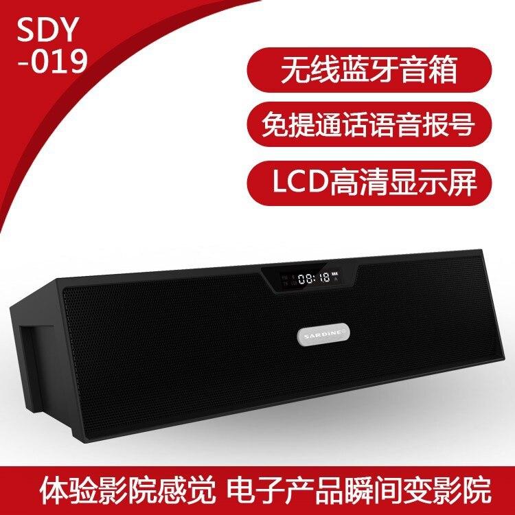 Portable HIFI Speaker Mini wireless Bluetooth Speaker FM Radio Amplifier with mic free shipp Russian 019