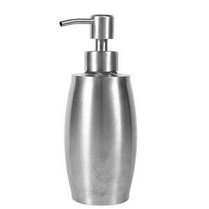 Image 5 - 350/500ml Stainless Steel Soap Dispenser Manual Liquid Soap Shampoo Lotion Shower Gel  Sanitizer Pump Bottles Dispensador