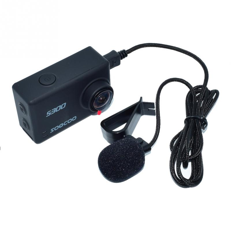 Professional  Cameras Voice Reception Recording External Microphone Protable Microphones For SOOCOO S300 Action Camera