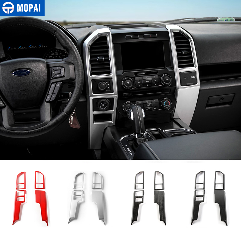 MOPAI ABS Car Central Console Dashboard Air Outlet Vent Panel Decoration Cover Stickers For Ford F150 2015 Up Car Styling цена