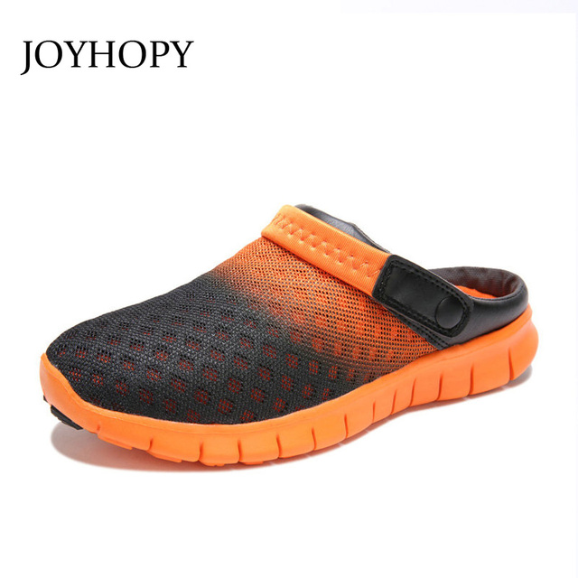 2016 Summer Unisex Air Mesh Breathable Men Sandals Man Casual Flats Clogs Shoes Lovers Beach Shoes Flip Flops Slippers