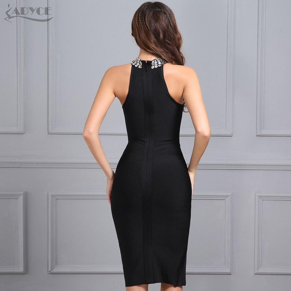 109392a5962d Adyce 2019 New Women Bandage Dress Luxury Celebrity Evening Party Dresses  Sleeveless Split Halter Diamonds Black Dress Vestidos-in Dresses from  Women's ...
