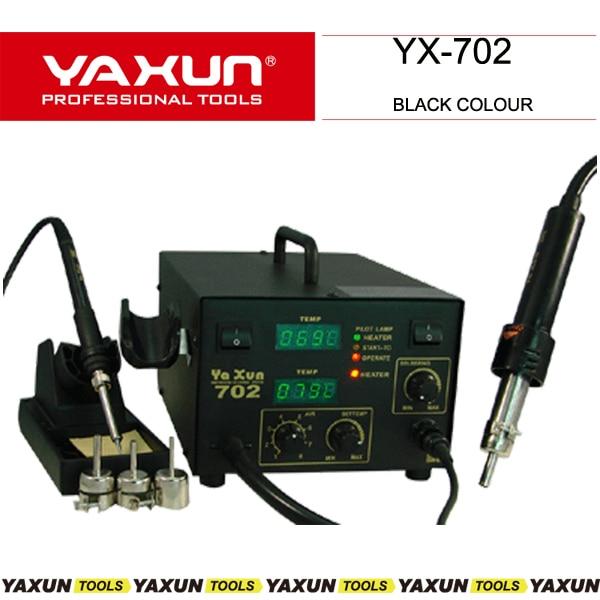 yaxun 702 hot air gun and soldering 2 in 1 SMD rework station 220V 110V BGA