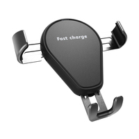 Mobile chargers KT02P universal Qi certified adjustable gravity bracket car mount phone holder stand USB fast wireless charger