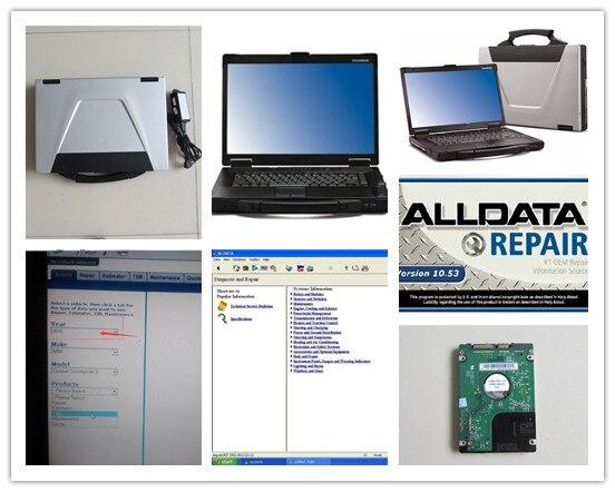 Alldata Митчелл, по заказу alldata 10,53 авто ремонт программного обеспечения 2в1 установлен в компьютере toughbook cf52 готов к использованию