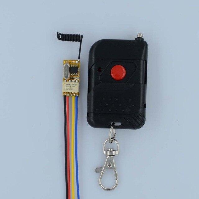 Smart Car Remote Control Switch 3.7V 4.5V 5V 6V 7.4V 9V 12V Relay Contact Wireless Switch ASK Portable LED Black Remote Lights