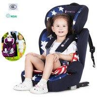 Детское автомобильное сиденье переносное дорожное детское автомобильное кресло ISOFIX жесткий интерфейс Регулируемая лежа детское безопасн