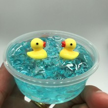 kawaii Transparent crystal clear slime mud ocean dolphin duck slime modeling clay polymer clay slime antistress toy for children