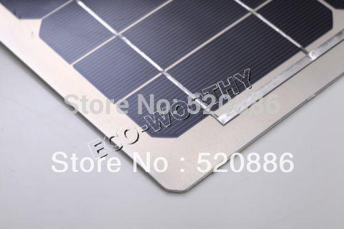 40w 18v Semi-flexible Mono Solar Panel Kit for Yacht Boat RV Camping,adventure 12v Battery Charger Solar Generators