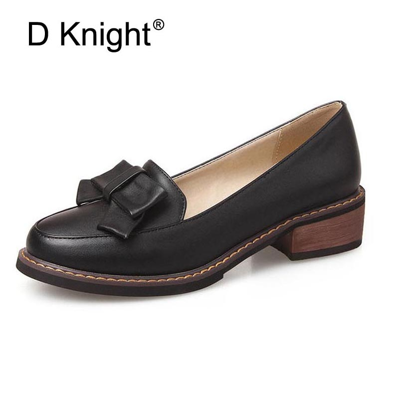 0ffba7cb28a New Fashion Bow Shallow Mouth Slip on Women Loafers Ladies Casual Flat  Oxford Shoes Size 34 43 Women Flats Girls Shcool Shoes-in Women s Flats  from Shoes on ...
