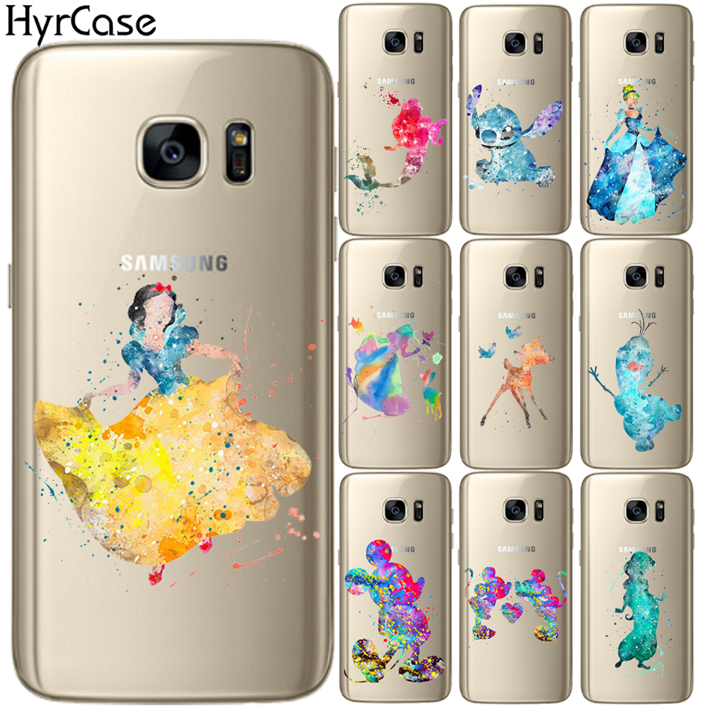 Watercolor Deer Snow <font><b>White</b></font> Mickey Soft TPU Silicone <font><b>Case</b></font> Cover For Coque <font><b>Samsung</b></font> Galaxy S5 Mini S6 <font><b>S7</b></font> <font><b>Edge</b></font> S8 S9 S10 Plus S10E image