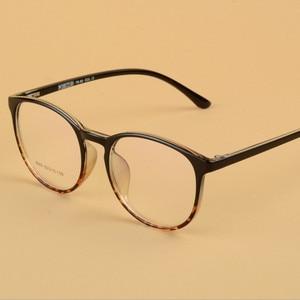 Image 2 - 透明メガネラウンドメガネ女性 TR90 光フレーム男性処方超軽量フレーム 643