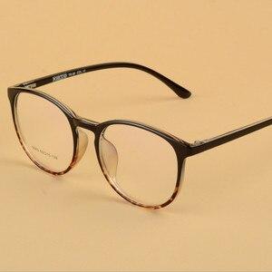 Image 2 - Transparente gläser Runde Brille Frauen TR90 Optische Auge Rahmen für männer Rezept Ultraleicht rahmen 643