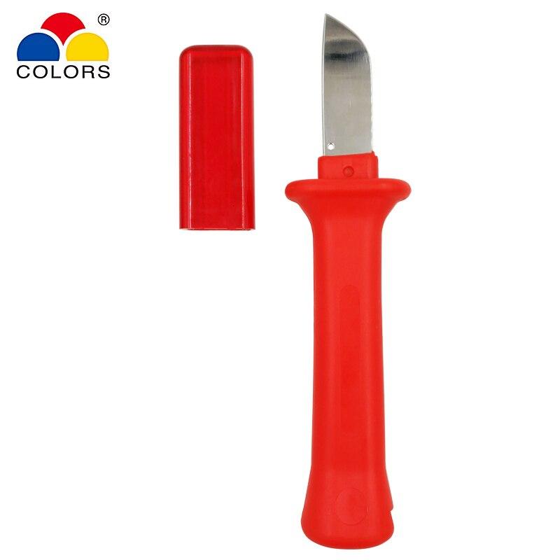 Modestil Farben 32hs Kabel Stripper Messer Deutsch Stil 440c Klinge Pvc Griff Strippen Der Umfang Der Durchmesser Von 50mm Unten Hand Werkzeuge Handwerkzeuge