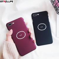 STROLLIFE Cute Pig nose Cartoon Couple Phone Cases For iphone 8 case Ultra Slim Wine red Black Hard Cover For iphone8 Capa Coque