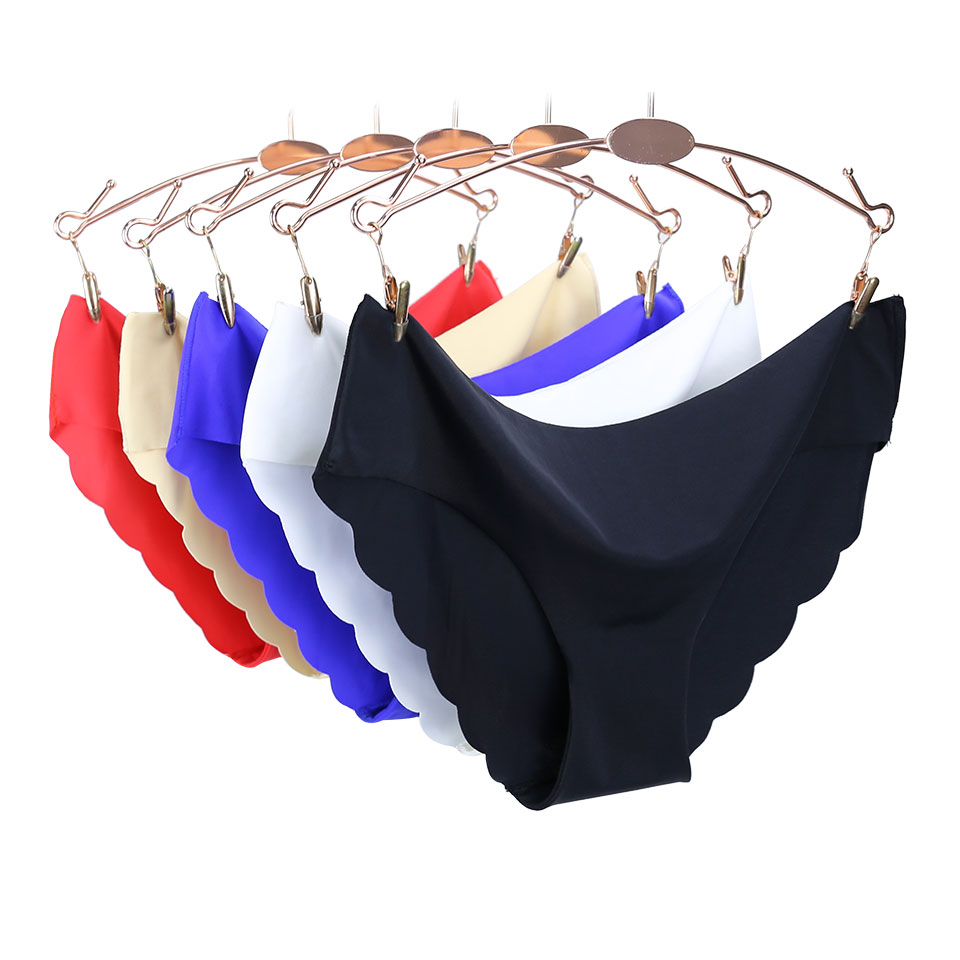 Hot Sale Sexy Seamless Briefs low-Rise Soft Underwear Women Solid   Panties   Female Polyester Ultra-thin Plus Size Ladies   Panties