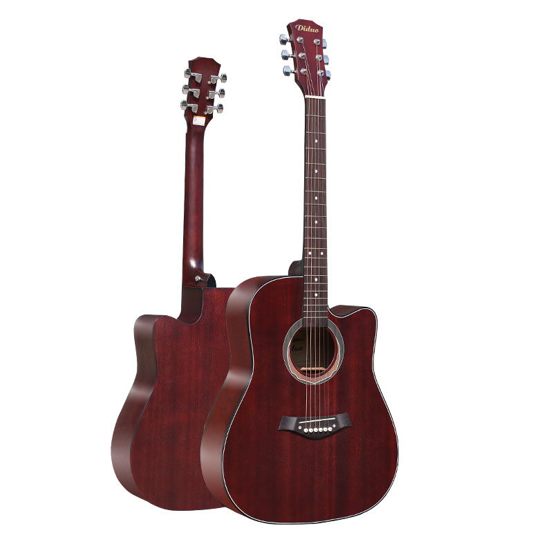 41'' Diduo Acoustic Guitar Missing Folk Ballad Novice Guitar Beginner Student Entry Folk Linden Wood Guitarra Male and Female amumu traditional weaving patterns cotton guitar strap for classical acoustic folk guitar guitar belt s113