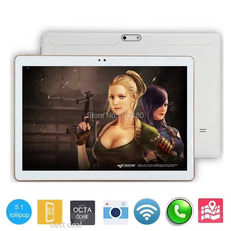 Prix pour 2017 Nouveau DHL Livraison 10 pouce Tablet PC Octa Core 4 GB RAM 64 GB ROM Double Cartes SIM 3G WCDMA Android 5.1 GPS Tablet PC 10 10.1 + cadeaux