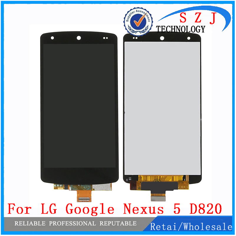 Black case For LG Google Nexus 5 D820 D821 LCD Display Touch Screen with Digitizer Replacement Free shipping