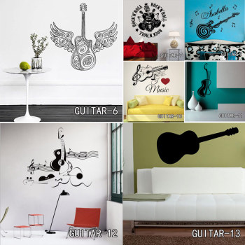 Creative Art Guitar Wall Stickers 1