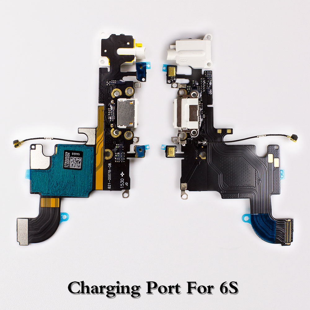 LEOLEO USB Charging Port Dock Connector Flex Cable For iPhone 6S Plus 7G 7 Plus 8G 8 Plus X Mircophone Headphone Audio Jack in Mobile Phone Flex Cables from Cellphones Telecommunications
